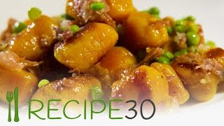 Gnocchi With Prosciutto And Peas Recipe - By Recipe30.com