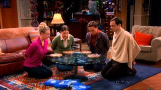 TBBT Game Night -  Where's Waldo, Wrestling, Kissing, Long Division and Pie Eating