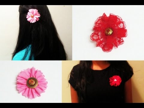 DIY Fabric,Lace Flower Hair & Dress Accessories
