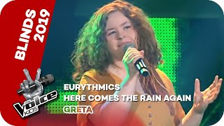Eurythmics - Here Comes The Rain Again (Greta) | Blind Auditions | The Voice Kids 2019 | ProSieben