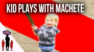 3 boys run wild with machetes | Supernanny