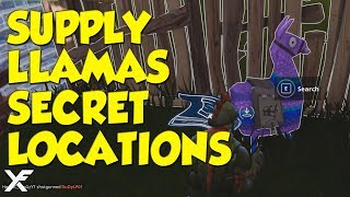 Fortnite Supply Llamas SECRET LOCATIONS - Remote C4 Destruction