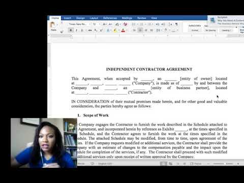 Business Contracts - Independent Contractor Agreement Walk Through