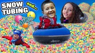 SNOW TUBING & DIPPIN DOTS! Racing & Laughing Ober Gatlinburg, TN Family Vlog #4