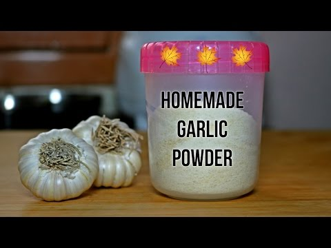 How to make Homemade GARLIC powder with a simple trick to peel garlic cloves