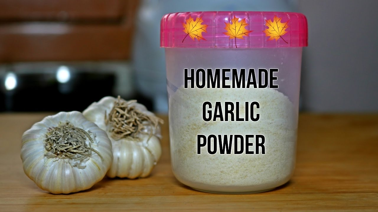 How to make Homemade GARLIC powder with a simple trick to ...