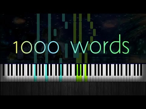 How to Play 1000 words Final Fantasy X2 Piano Collections