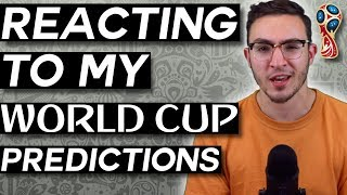 REACTING TO MY WORLD CUP PREDICTIONS - World Cup Reaction Video (World Cup Daily, Day 16)