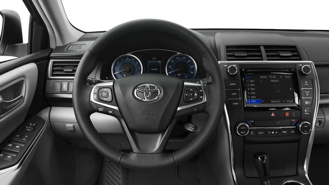 Toyota Camry Le >> 2016 Toyota Camry: Steering Wheel Controls | Houston - YouTube