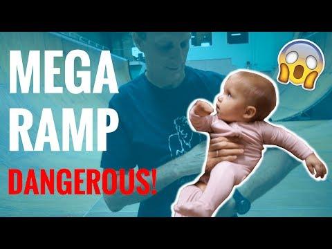 TONY HAWK SKATES MEGA RAMP WITH BABY! **not clickbait**