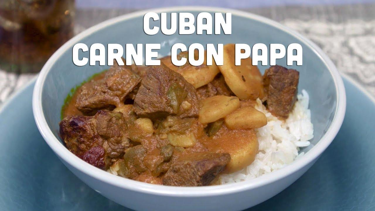 Carne Con Papas Cubana
