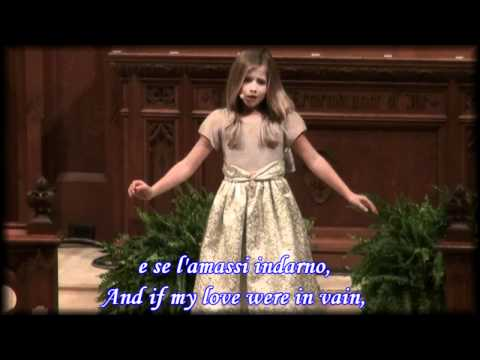 O Mio Babbino Caro by Jackie Evancho with lyric's and English translation