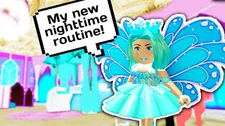 MY NEW NIGHT ROUTINE AS A PRINCESS 👑 // Roblox Royale High School