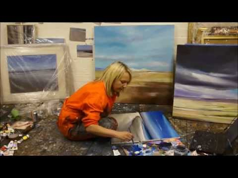 Scottish artist Allison Young in her studio.