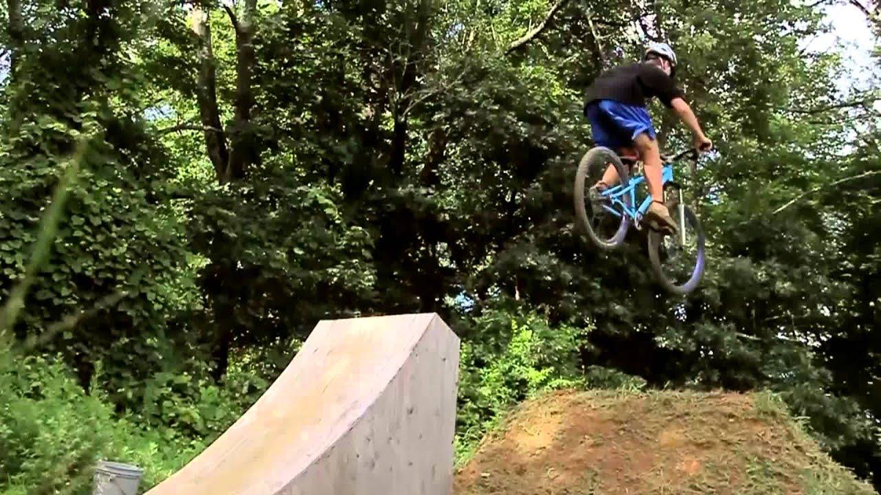 Backyard Bmx Jumps backyard dirt jumping session - youtube