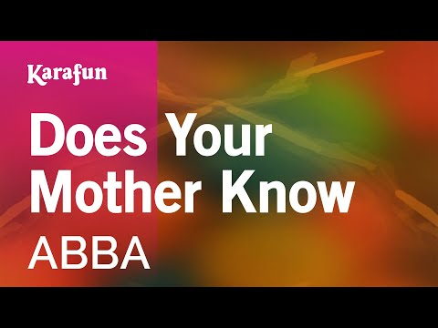 Karaoke Does Your Mother Know  ABBA *