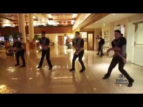 Surprise Flashmob Proposal at Hilton Waikiki Beach - 'Marry Me' Bruno Mars