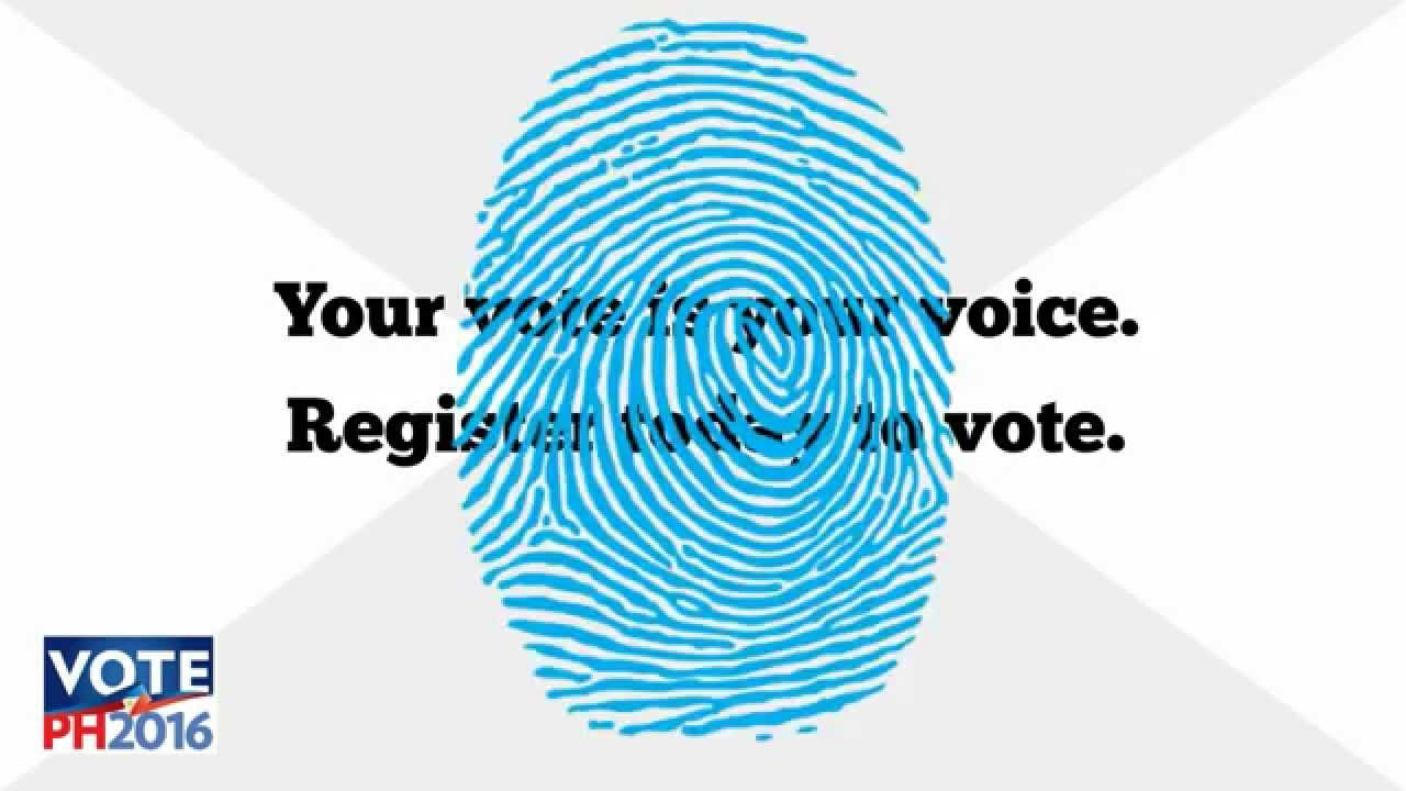 how to register to vote in the 2016 ph elections youtube