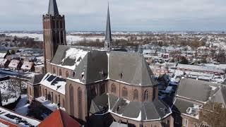 Drone beelden Vinkeveen in de sneeuw - www.luchtopname.nl