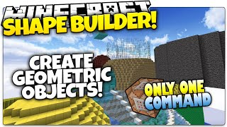 Minecraft | Make Shapes & Spheres In Minecraft! | Only One Command (One Command Creation)