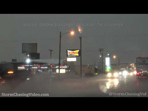 Heavy Rain and Street Flooding - Post, TX, 5/24/2020