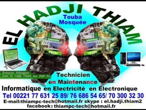 12. El hadji Thiam à Touba Sénégal el hadji Créations d'énergie invite Radio walf le 16.08.2013