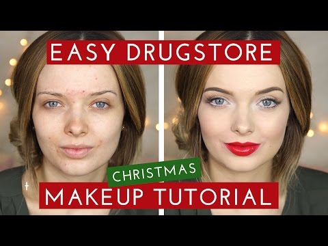 DRUGSTORE Easy Christmas Makeup Tutorial