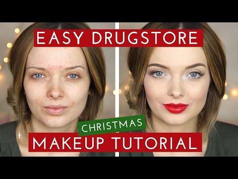 DRUGSTORE Easy Christmas Makeup Tutorial // MyPaleSkin