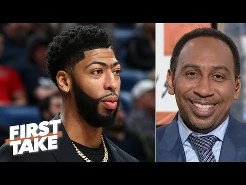 The Pelicans should offer Anthony Davis a max deal, then build around Zion - Stephen A. | First Take