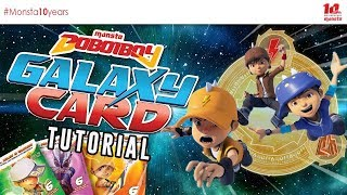 BoBoiBoy Galaxy Card Tutorial