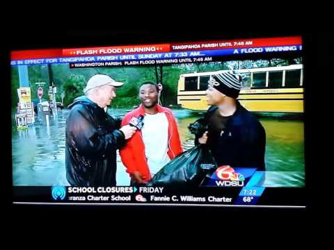 Funny news interview New Orleans