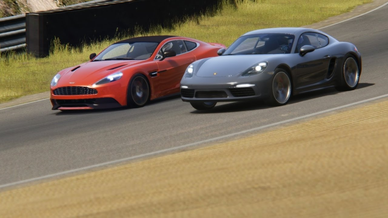 Battle Aston Martin Vanquishi V12 Vs Porsche 718 Cayman At Zandvoort Youtube