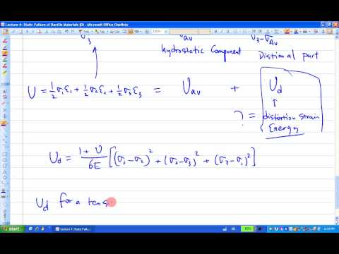 ENGR380 Lecture4 Static Failure of Ductile Materials (Distortion Energy Theory)