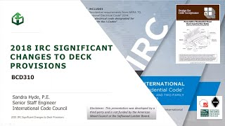 Bcd310 - 2018 Irc Significant Changes To Deck Provisions