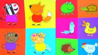 Свинка Пеппа и друзья Peppa Pig & Friends - собираем пазлы для малышей Peppa Pig Puzzles for Kids