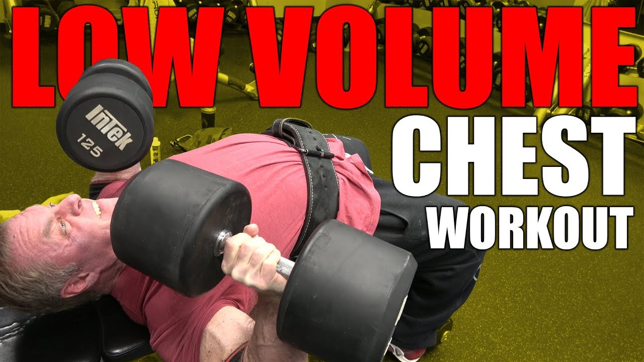 Top Secret Low Volume Chest workout YouTube