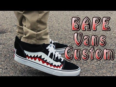 Bape Vans Old Skool Time Lapse \u0026 On