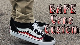 Bape Vans Old Skool Time Lapse & On Feet!!