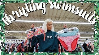 Thrifting Swimsuits   Try On Thrift Haul