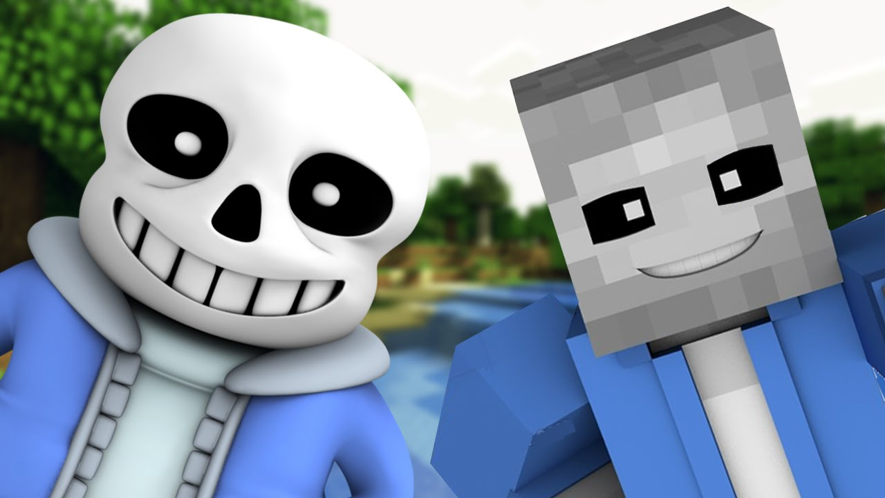 SANS PLAYS MINECRAFT Minecraft Undertale Roleplay YouTube