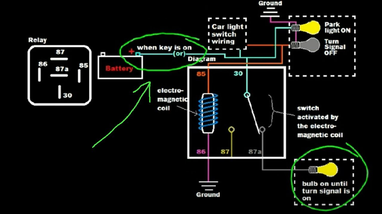 Advanced Relay Tutorial: Turn Signal Integrated Brake or Parking Lights (Example 4)  YouTube