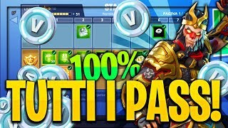 "HOW TO HAVE ""ALL"" THE FREE FORTNITE BATTLE PASSES!! Free V-bucks, very simple"