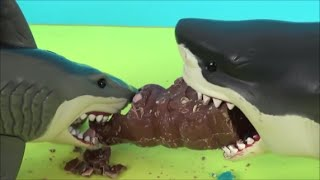 sharks vs chocolate easter bunny mega shark great white attack