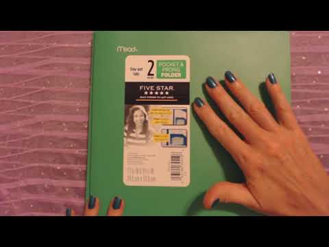 ASMR | School Supply Box Show & Tell (Soft Spoken)
