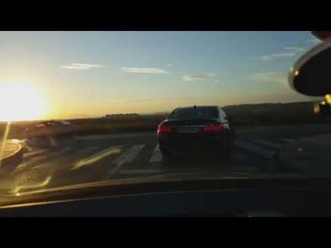 Alicante city guide in car dashcam