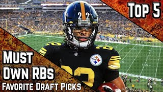 Top 5 Must Own Running Backs   Favorite Draft Picks   2021 Fantasy Football Advice screenshot 2