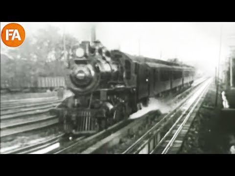 The American Railroads in 1897 - Vintage Footage