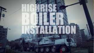 High Efficient Gas Boiler Installation High-rise Building - Milani Plumbing