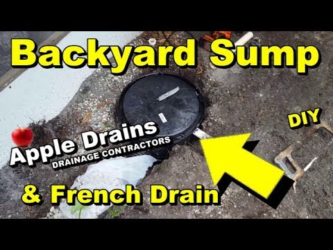 Backyard Sump Pump With French Drain Youtube
