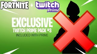 Is Fortnite Twitch Prime Pack 3 Cancelled?